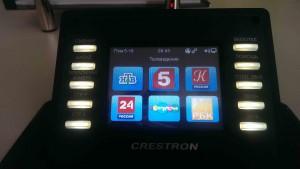 Пульт Crestron для управления телевизором